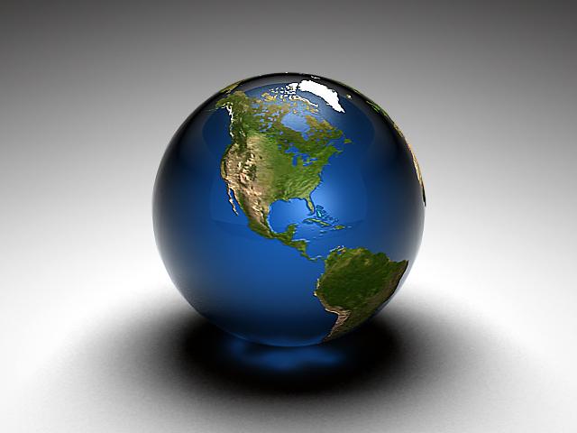 Earth Marble by Scott