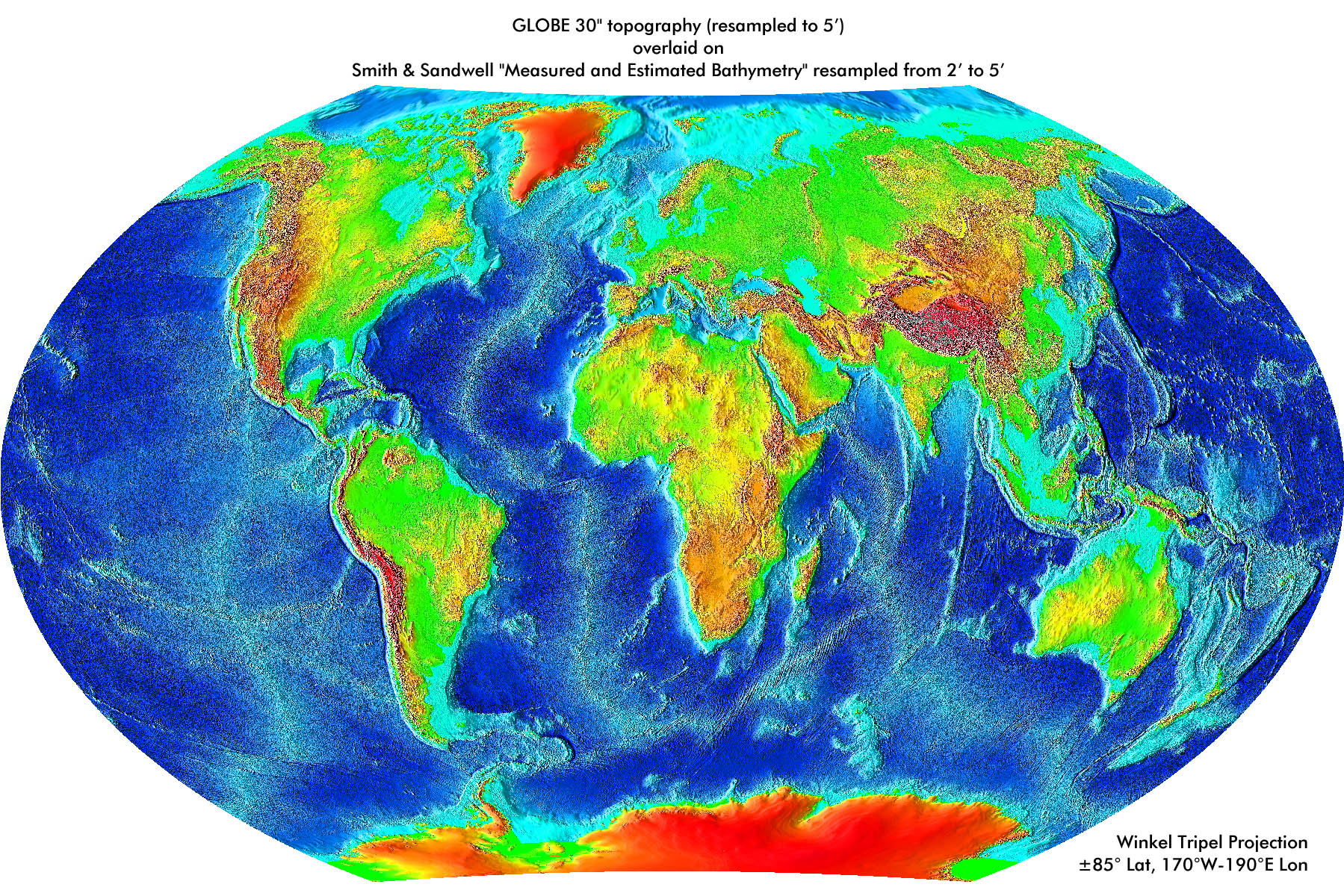 Index Of LibraryImagesNatural ScienceAstronomyEarthMaps - Earth topographic map